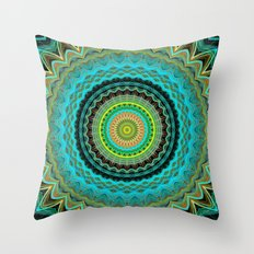 Bliss Mandala Throw Pillow
