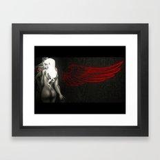 Red Angel Framed Art Print