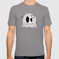 Cute Little Ghost Mens Fitted Tee Tri-Grey SMALL