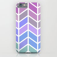 blue & purple chevron iPhone 6 Slim Case