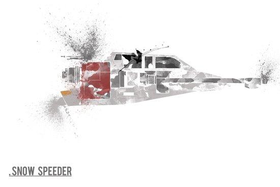 Star Wars Vehicle Snow Speeder Art Print
