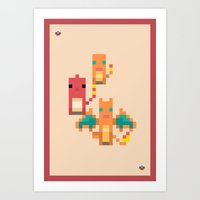 Red Family Art Print