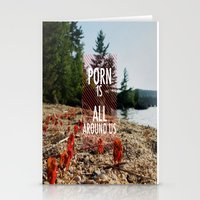 Porn Is All Around Us Stationery Cards