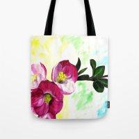 Blossom Spray Tote Bag