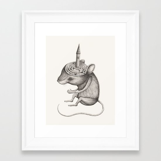 'Lost In My Mind' Framed Art Print