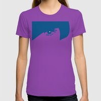 Watching You Womens Fitted Tee Ultraviolet SMALL