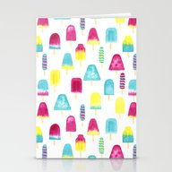 Yummy Popsicles Stationery Cards