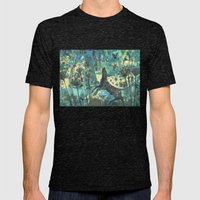 Dog In The Garden. Mens Fitted Tee Tri-Black SMALL