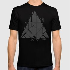 PLACE Triangle V2 Mens Fitted Tee SMALL Black