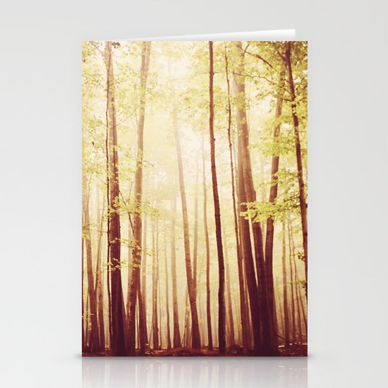 autumn forest   Stationery Card