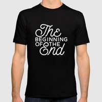 The Beginning Of The End Mens Fitted Tee Black SMALL