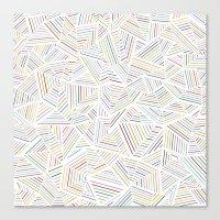 Abstraction Linear Rainb… Canvas Print