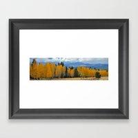 Arizona Autumn at Lockett Meadow Framed Art Print