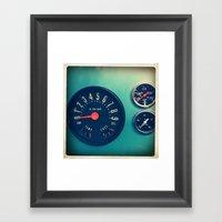 DASHBOARD Framed Art Print