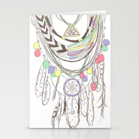 Tribal Necklace Stationery Cards