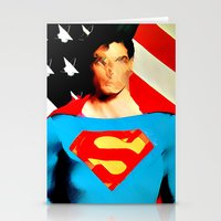 superman Stationery Cards featuring Superman by Rene Alberto