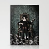 Queen Of Skulls Stationery Cards