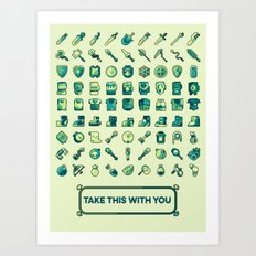 Take This With You Art Print