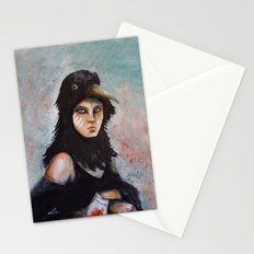 Raven girl Stationery Cards