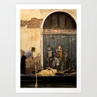 Gondola and Graffiti Art Print