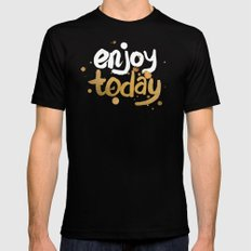 Enjoy Today SMALL Black Mens Fitted Tee