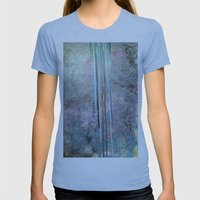 Free Falling Womens Fitted Tee Athletic Blue SMALL