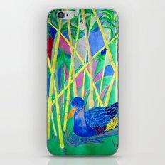 La Papera nello Stagno al Tramonto (Duck in a Pond at Sunset) iPhone & iPod Skin