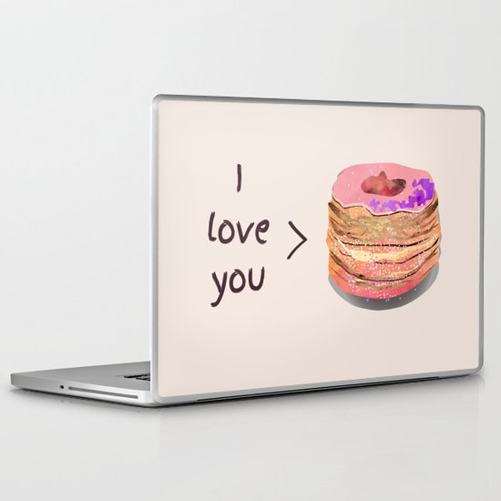 I love you more than cronuts Laptop & iPad Skin