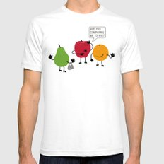 Like Apples and Oranges Mens Fitted Tee White SMALL