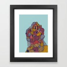 Head 54 Framed Art Print