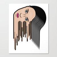 Flows Girl Canvas Print