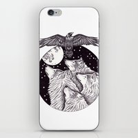 Catch The Moon iPhone & iPod Skin