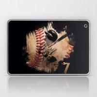 Craig Biggio Illustration in Black Laptop & iPad Skin
