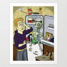 'I cum in Peas' Art Print
