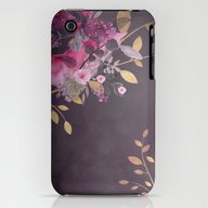 iPhone & iPod Case featuring FLOWERS & GOLD  by Monika Strigel