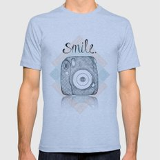 Just Smile Mens Fitted Tee Athletic Blue SMALL