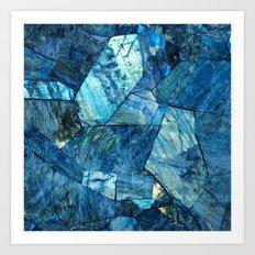 Labradorite Blue Art Print