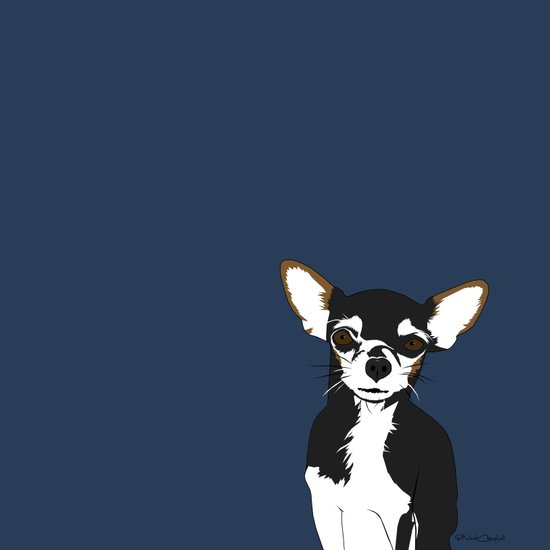 Zoe the Chihuahua Art Print