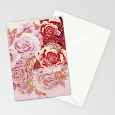 composition florale en rose Stationery Cards