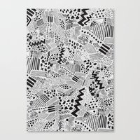 GRAPHic-MoN0T0NE Canvas Print