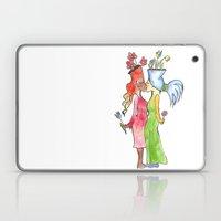Lesbian Flower Women Kis… Laptop & iPad Skin
