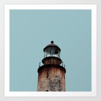 Lonely Old Lighthouse - … Art Print
