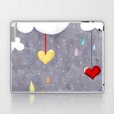 Clouds and Hearts Purple Polka Dots Laptop & iPad Skin
