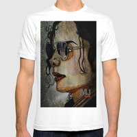 MJ In Profile Mens Fitted Tee White SMALL