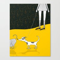 Snyder Goes For Walkies Canvas Print