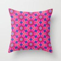 Kaleidoscope Floral Throw Pillow