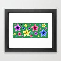 Flower Crazy Framed Art Print