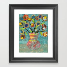 Junk Mail Flowers Framed Art Print