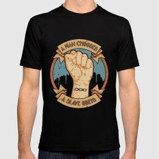Bioshock a man, a slave SMALL Black Mens Fitted Tee