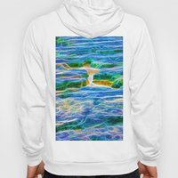 Abstract rock pool in the rough rocks in Queensland Hoody